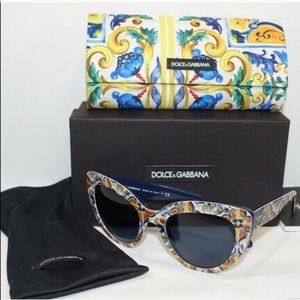 Sale! Dolce & Gabbana Floral Majolica Sunglasses